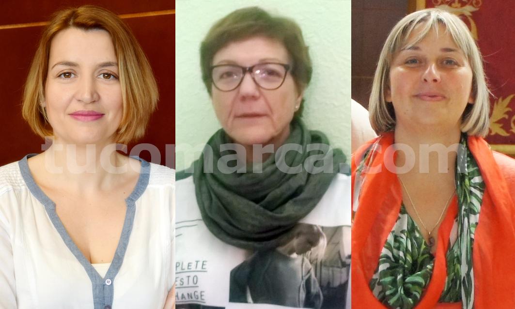 Verónica Alcocer (PP), Paquita Collado (PSOE) y Amparo Vañó (Ciudadanos). tc.c