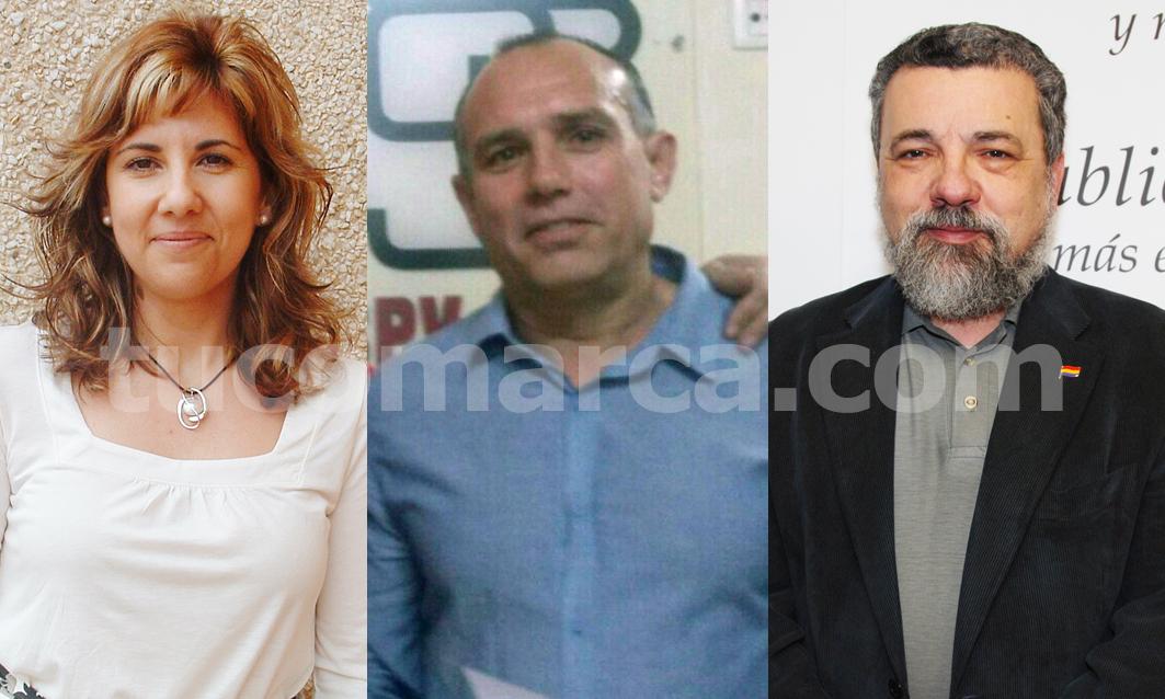 Carmen Valero (PP), Rafael Fora (PSOE) y Pablo Rodríguez (PSOE). tc.c