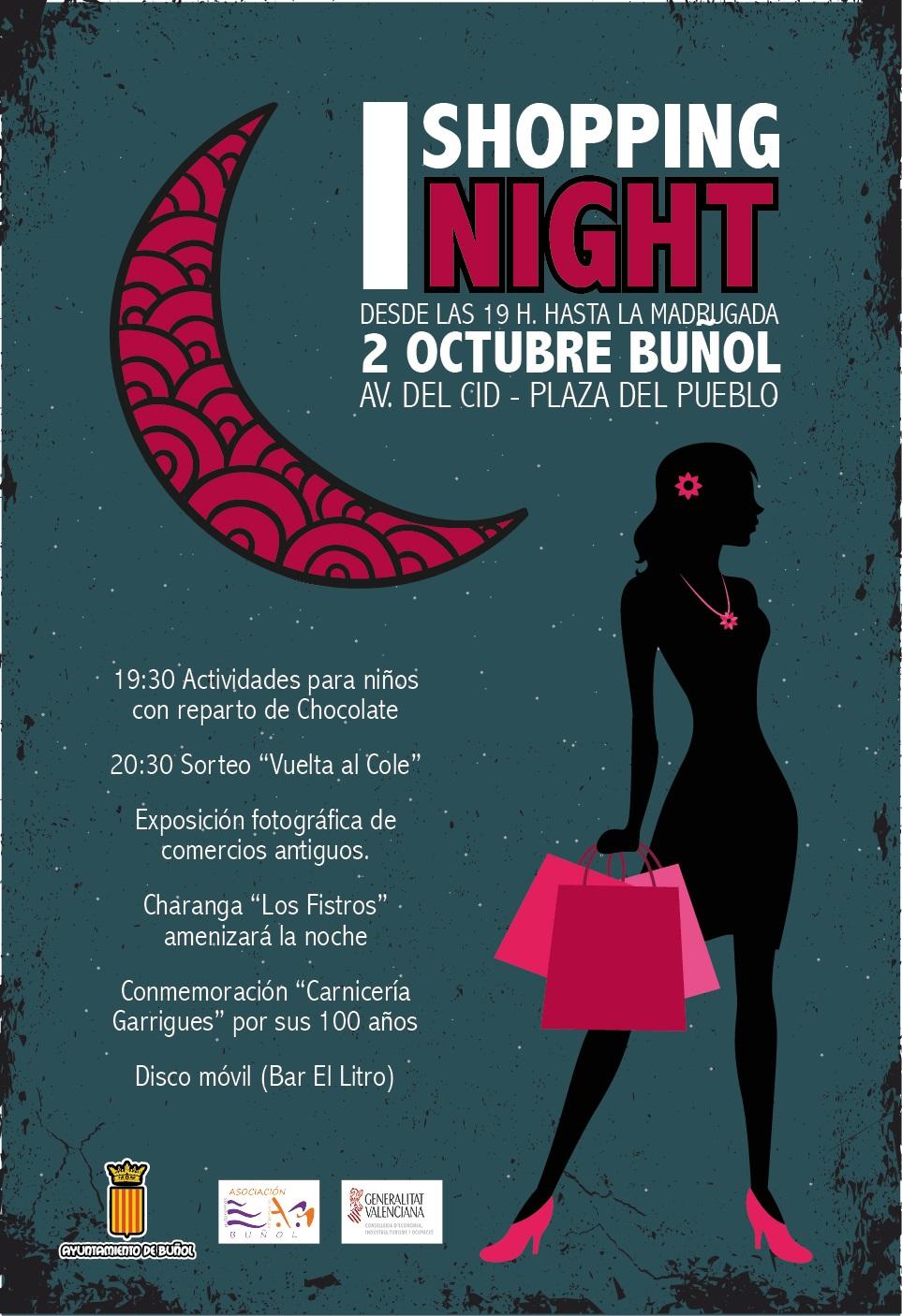 Cartel anunciador de la iniciativa comercial en Buñol.