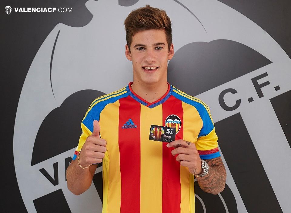 El joven Santi Mina, del Celta de Vigo, que costó 9 millones de euros al Valencia CF.