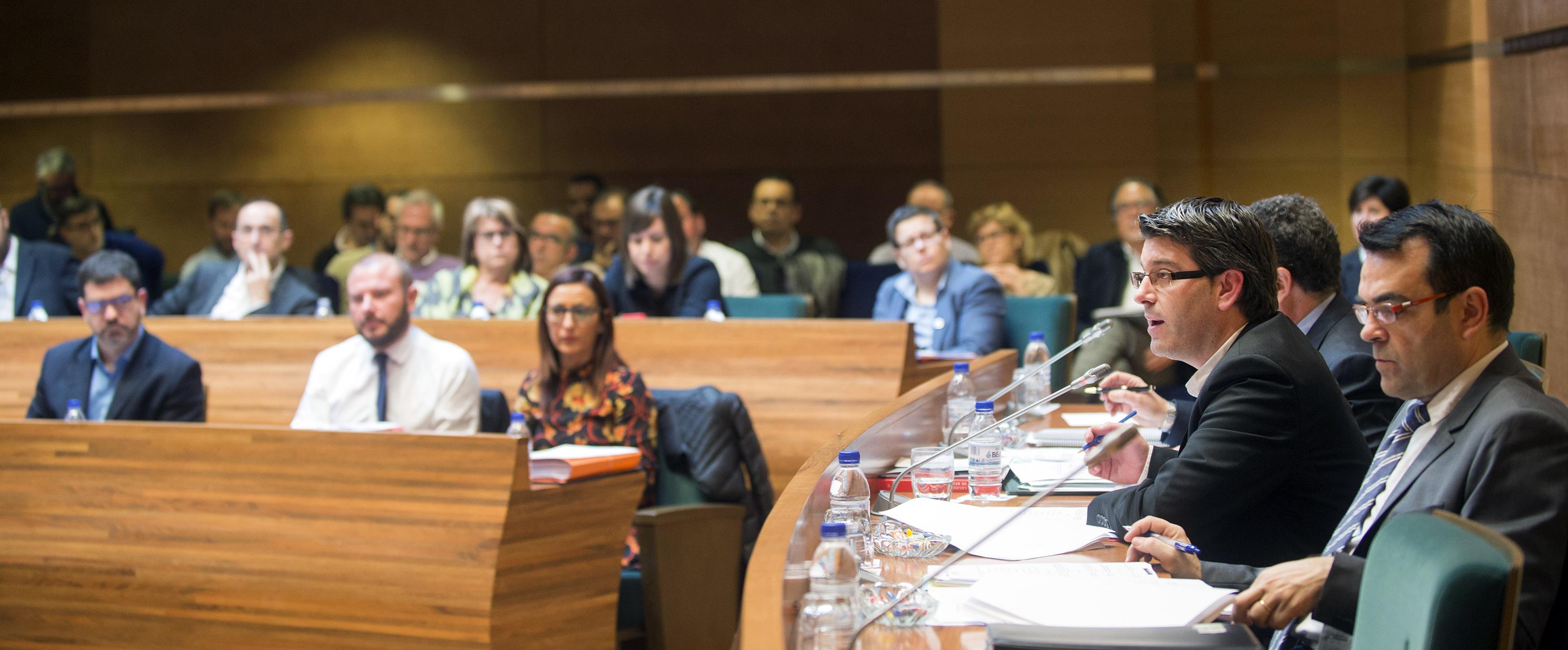 Último pleno de la Diputación Provincial de Valencia desarrollado esta misma semana.