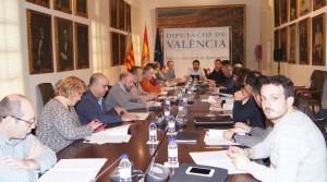 Una imatge de la reunió realitzada a la Diputació.