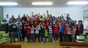 Escolares participantes en la iniciativa.
