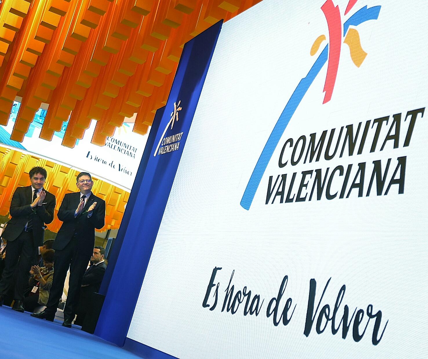 El President de la Generalitat durante su participación este jueves en el stand de la Comunitat en Fitur.