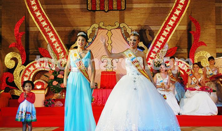 Presentación de la Reina de la Feria y Fiestas de Buñol del año pasado.
