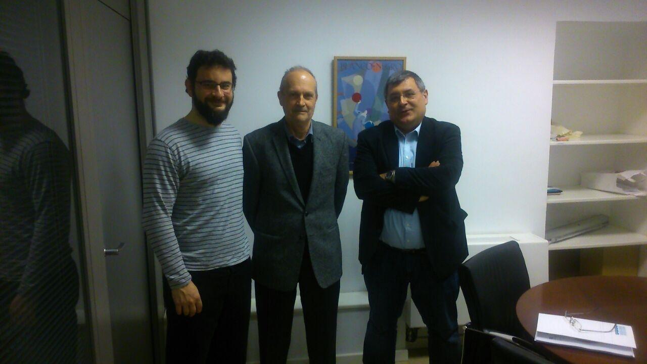 El diputado Roberto Jaramillo tras la reunión mantenida.