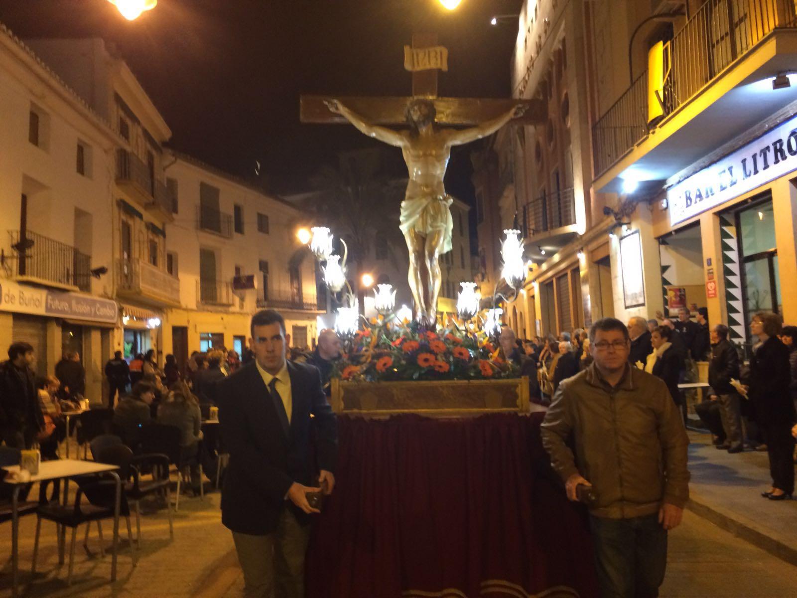 Procesión del Jueves Santo realizada este año en Buñol.