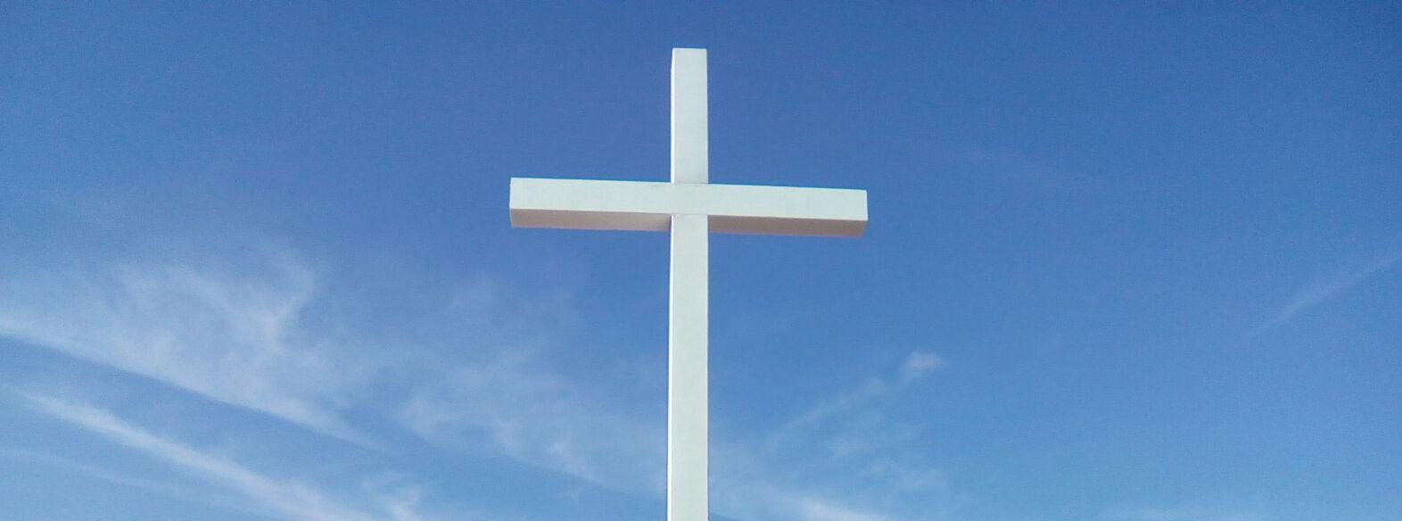La enorme cruz que se bendice este domingo.