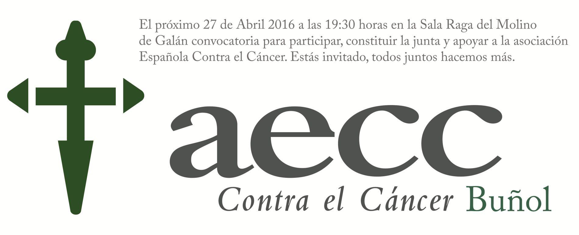 Logotipo de la delegación en Buñol de la Asociación española contra el cáncer.