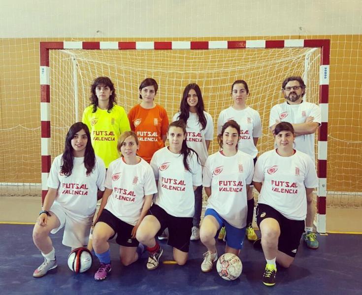 Equipo femenino del Buñol Fútbol Sala.