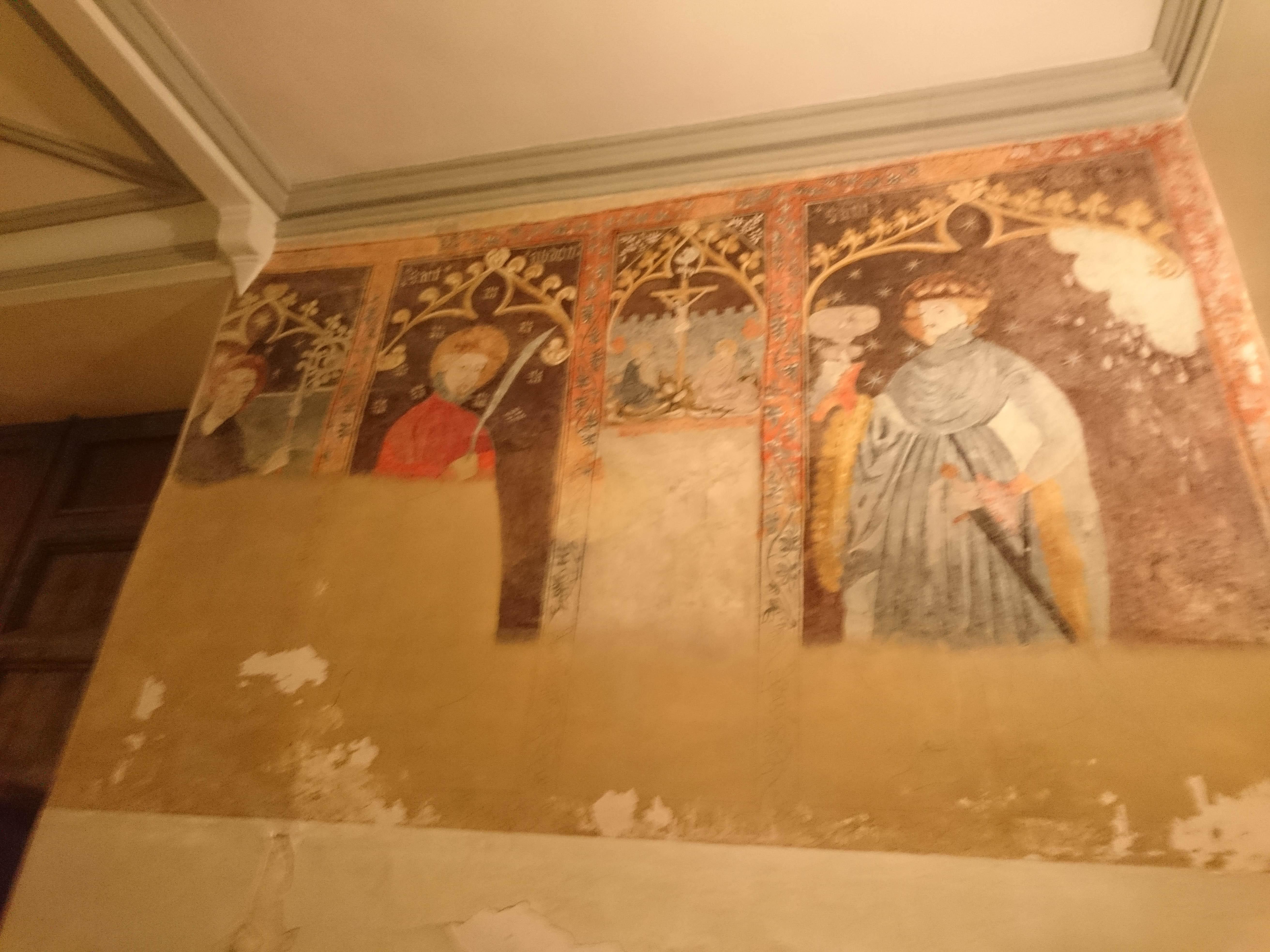 imatge de les pintures facilitada pel Centre d'Estudis Locals de La Pobla. Foto J.L. Crespo.