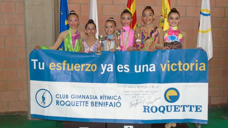 Oro, plata y bronce para el Club Gimnasia Rítmica Roquette Benifaió.