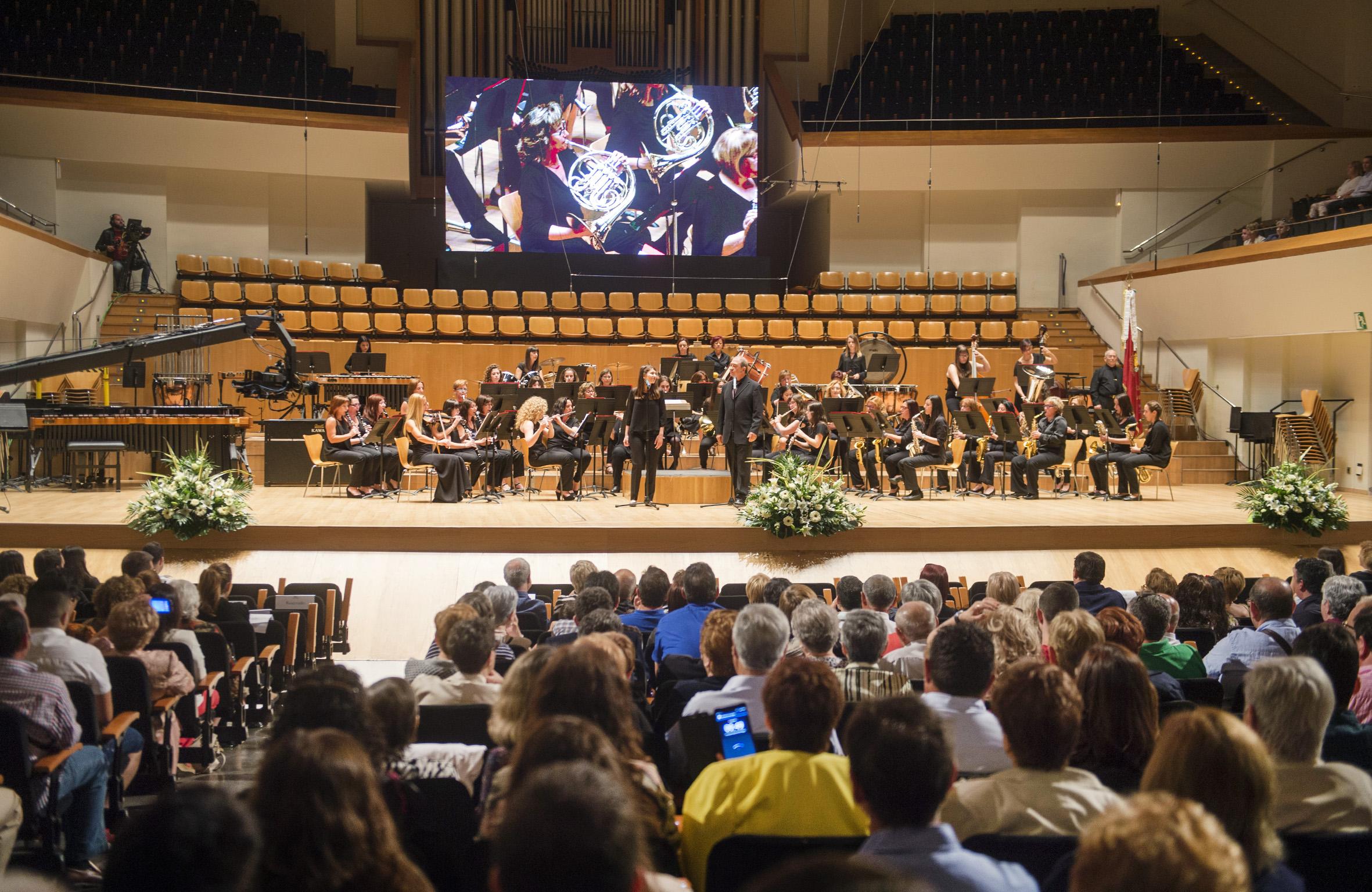 Una imagen del 40 certamen provincial de bandas de música de la Diputación de Valencia.