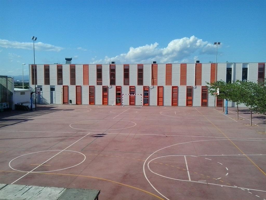 Aulas del colegio afectado por las temperaturas.