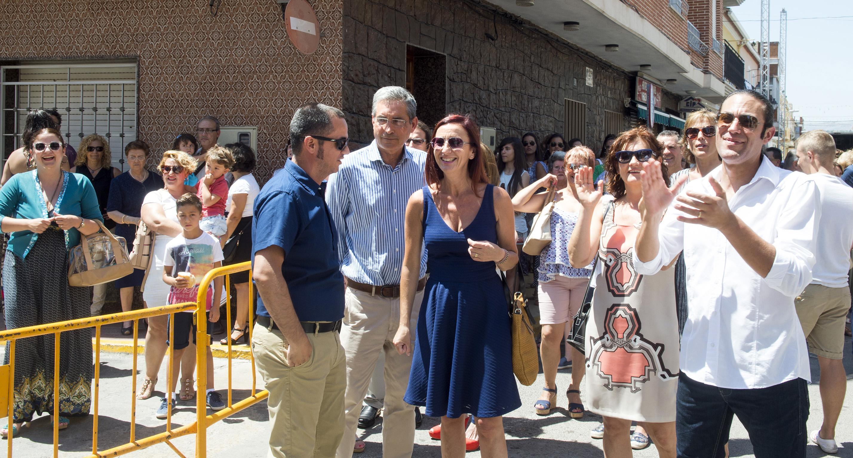 Maria Josep Amigó en las fiestas patronales de Sant Jaume de Alfarp.