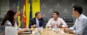 El Delegado del Gobierno en Valencia, Juan Carlos Moragues, con el presidente de la Diputación, Jorge Rodríguez.