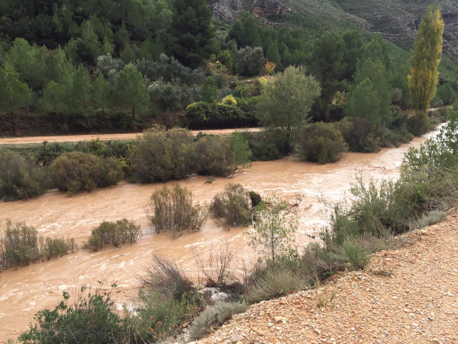 Daños provocados por las lluvias torrenciales en Chera.