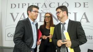 El presidente, Jorge Rodríguez; la vicepresidenta, Mª Josep Amigó: y el vicepresidente segundo, Emili Altur.