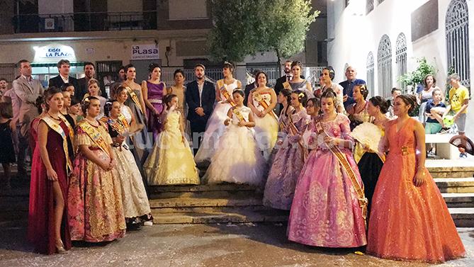 Interpretación del Himno a Buñol, con el que se cerró la jornada festiva de la Feria y Fiestas de la localidad.