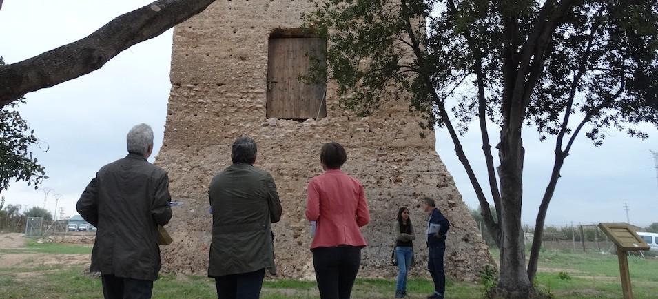 El diputado ha visitado el entorno de la torre Mussa.