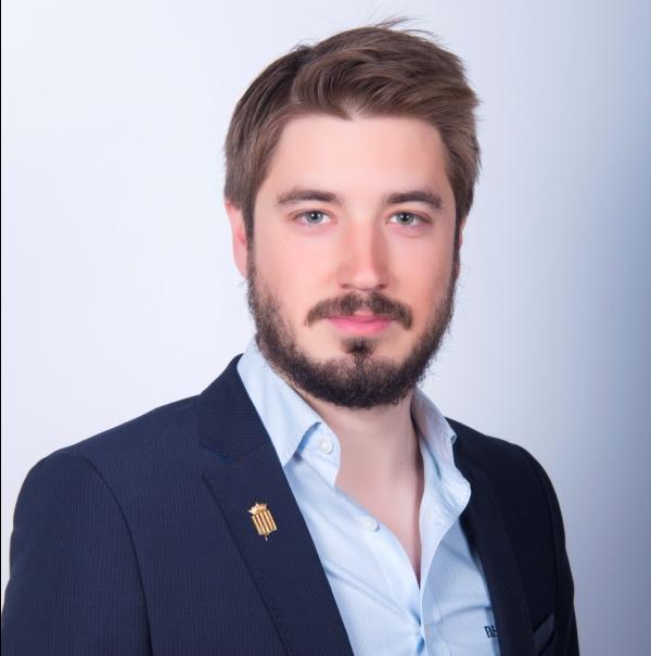 El alcalde de Buñol, Rafa Pérez (EU).