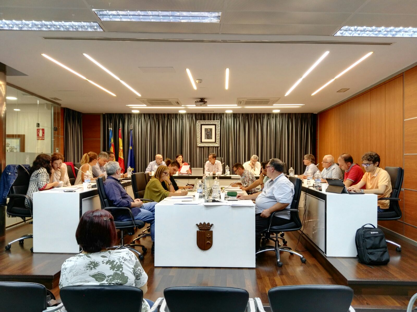 Una imagen de la última sesión plenaria del consistorio de Riba-roja.