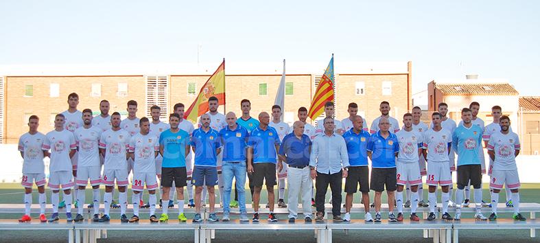 Plantilla del primer equipo del CD Buñol para la temporada 2016-17.