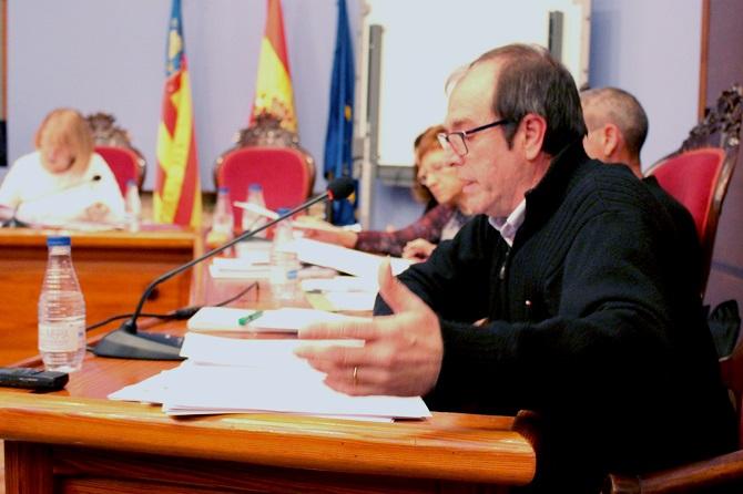 El concejal de Compromís, José Vicente Guijarro, en el pleno.