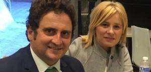 El alcalde de Pedralba, Roberto Serigó, con la portavoz del Grupo Popular de la Diputación de Valencia, Mari Carmen Contelles.
