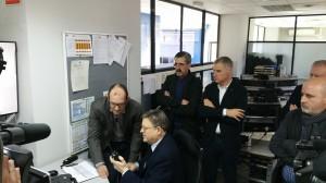 Puig ha estado acompañado, durante su visita, por el director general de la Agencia de Seguridad y Respuesta a las Emergencias, José María Ángel.