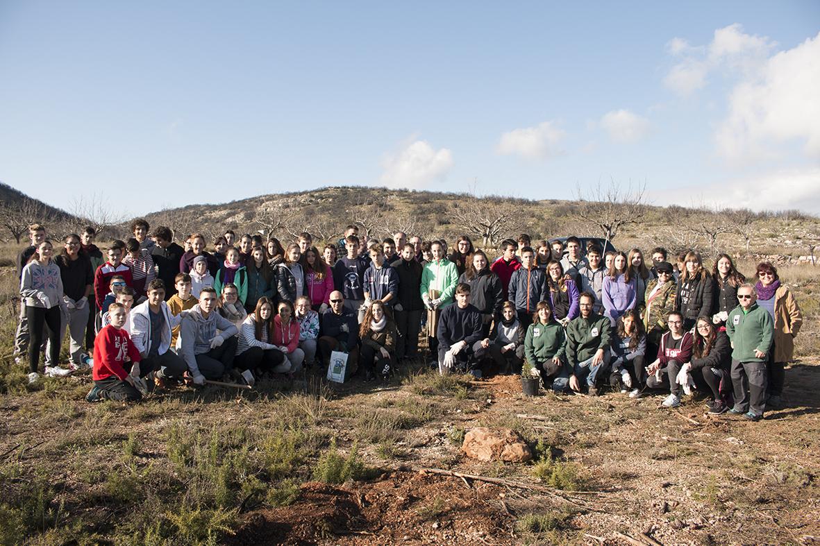 """La actividad se enmarca en la campaña """"Recicla. Reforesta. Recicla"""" desarrollada en diferentes municipios de la provincia de Valencia."""