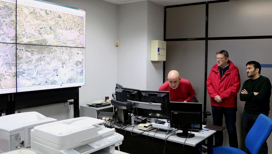 Los servicios técnicos de la Generalitat evaluarán los daños y harán una estimación presupuestaria con cargo al Fondo de Contingencia para 2017.