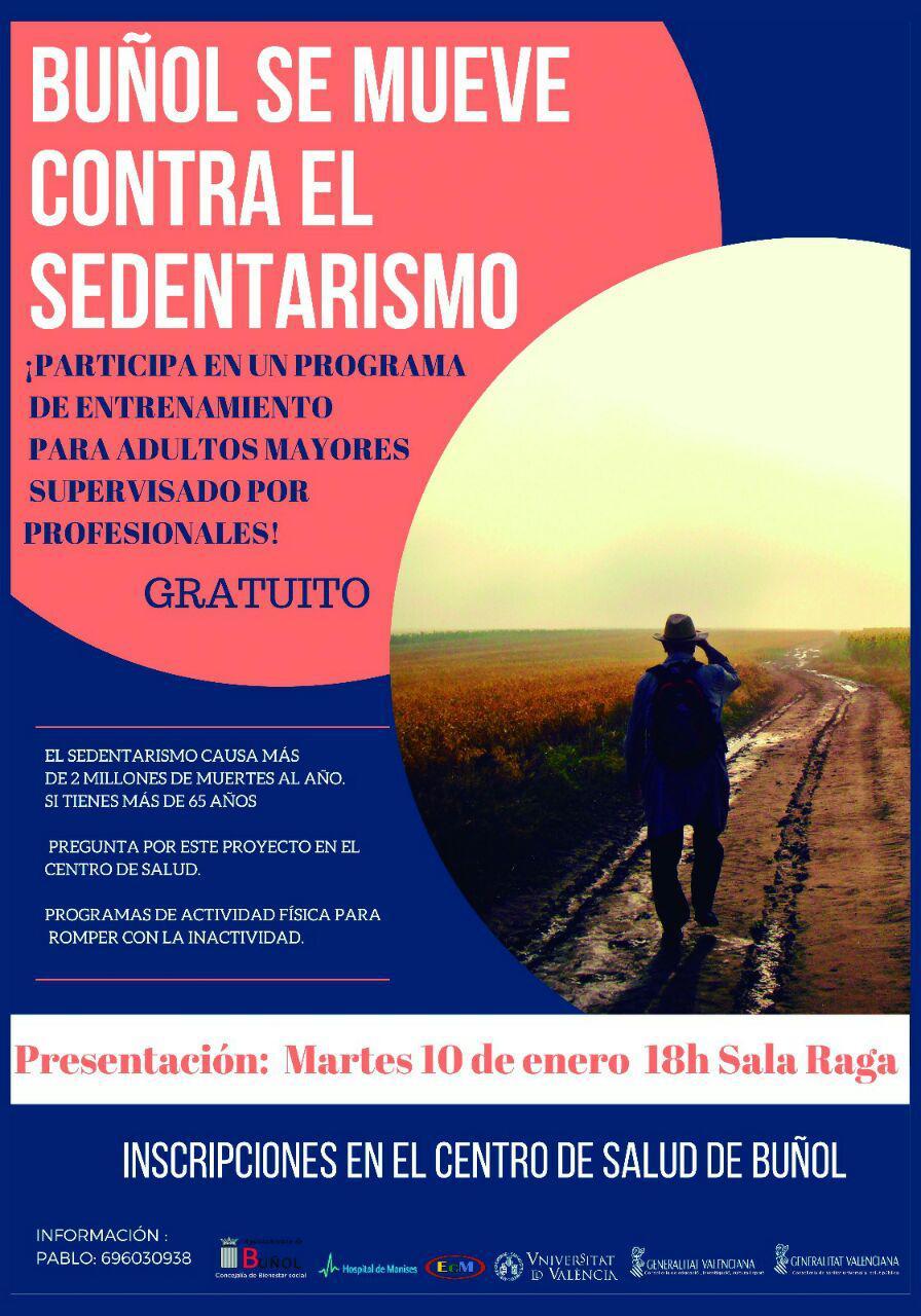 Cartel de la campaña impulsada por el Ayuntamiento de Buñol.