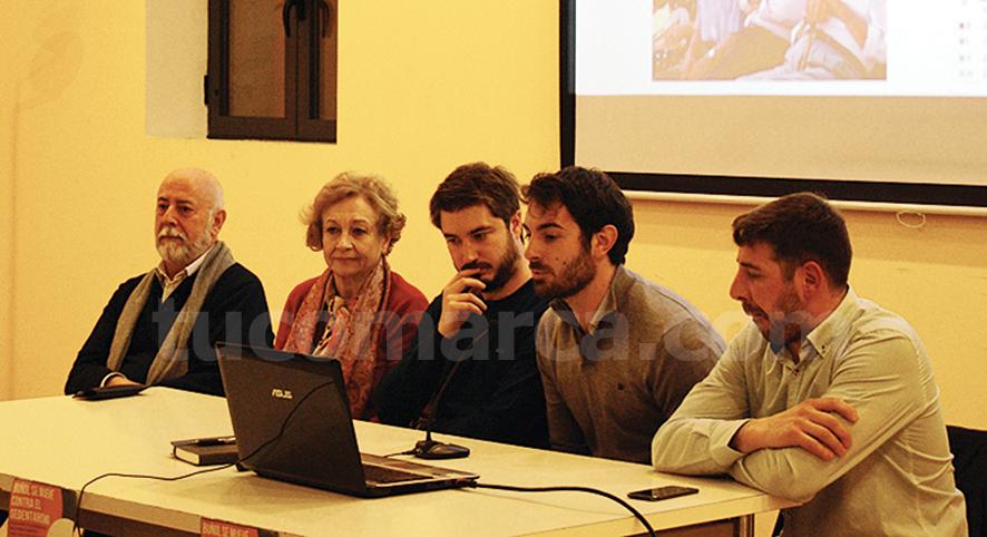 Participantes en la presentación del trabajo que se va a desarrollar en Buñol.