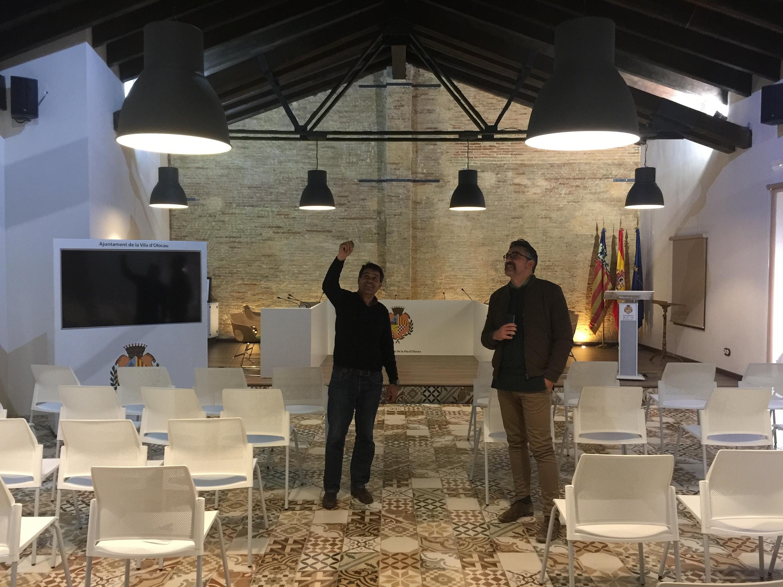 Una imagen de la rehabilitación de la planta baja de la antigua almazara de Olocau para su conversión en Centro Social Senior.