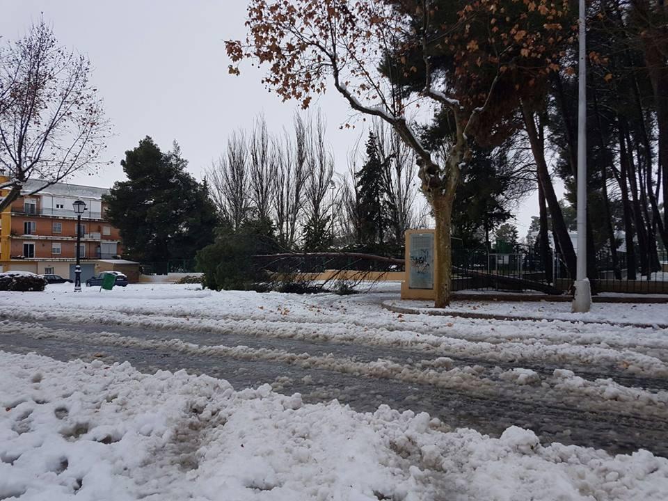 Una imagen del último temporal en Requena-Utiel.