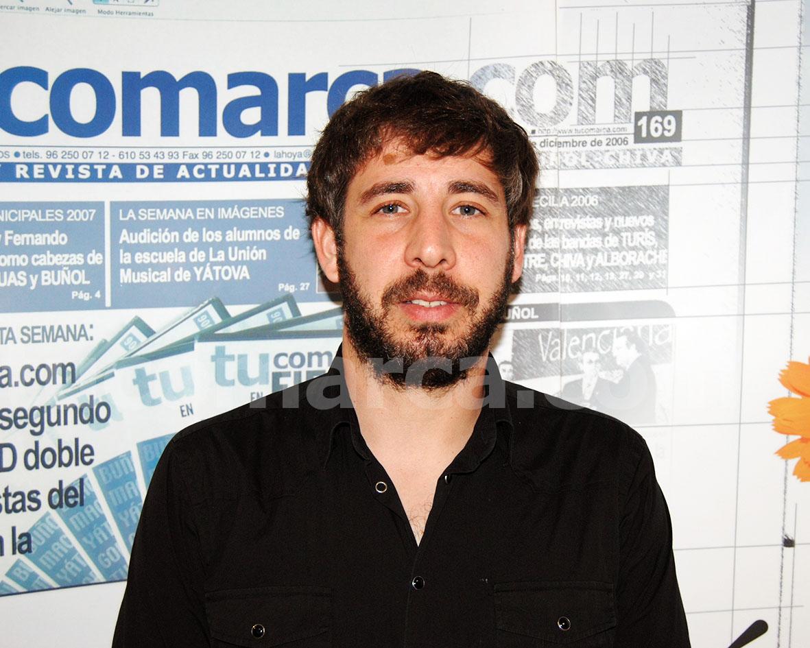 El concejal de Bienestar Social de Buñol, Carlos Xerri.