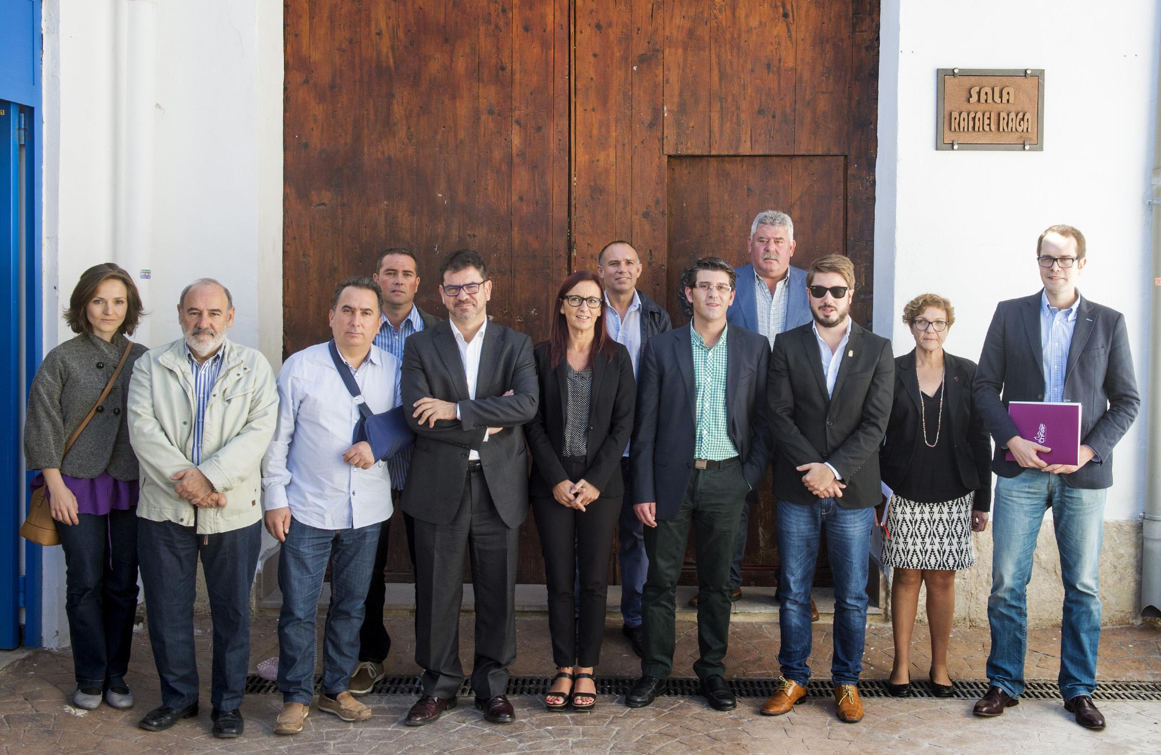 El Presidente de la Diputación de Valencia, Jorge Rodríguez, durante su visita en septiembre de 2015 para presentar los PIFS.