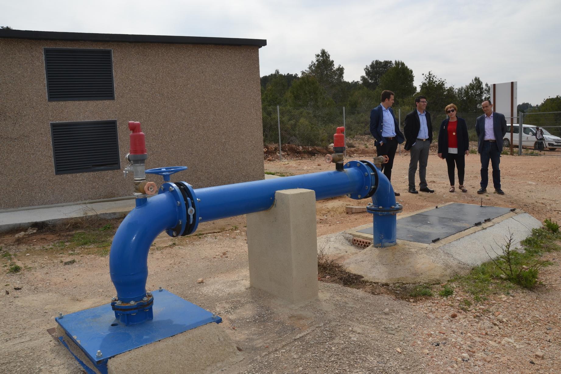 El presidente, Jorge Rodríguez, visita el pozo de El Salvador, una infraestructura vital para el municipio de la Hoya de Buñol que ha subvencionado la Corporación a través del IFS y el PPOS.