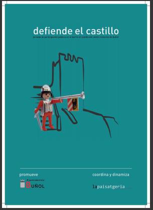 Cartel de la iniciativa municipal sobre el castillo de Buñol.
