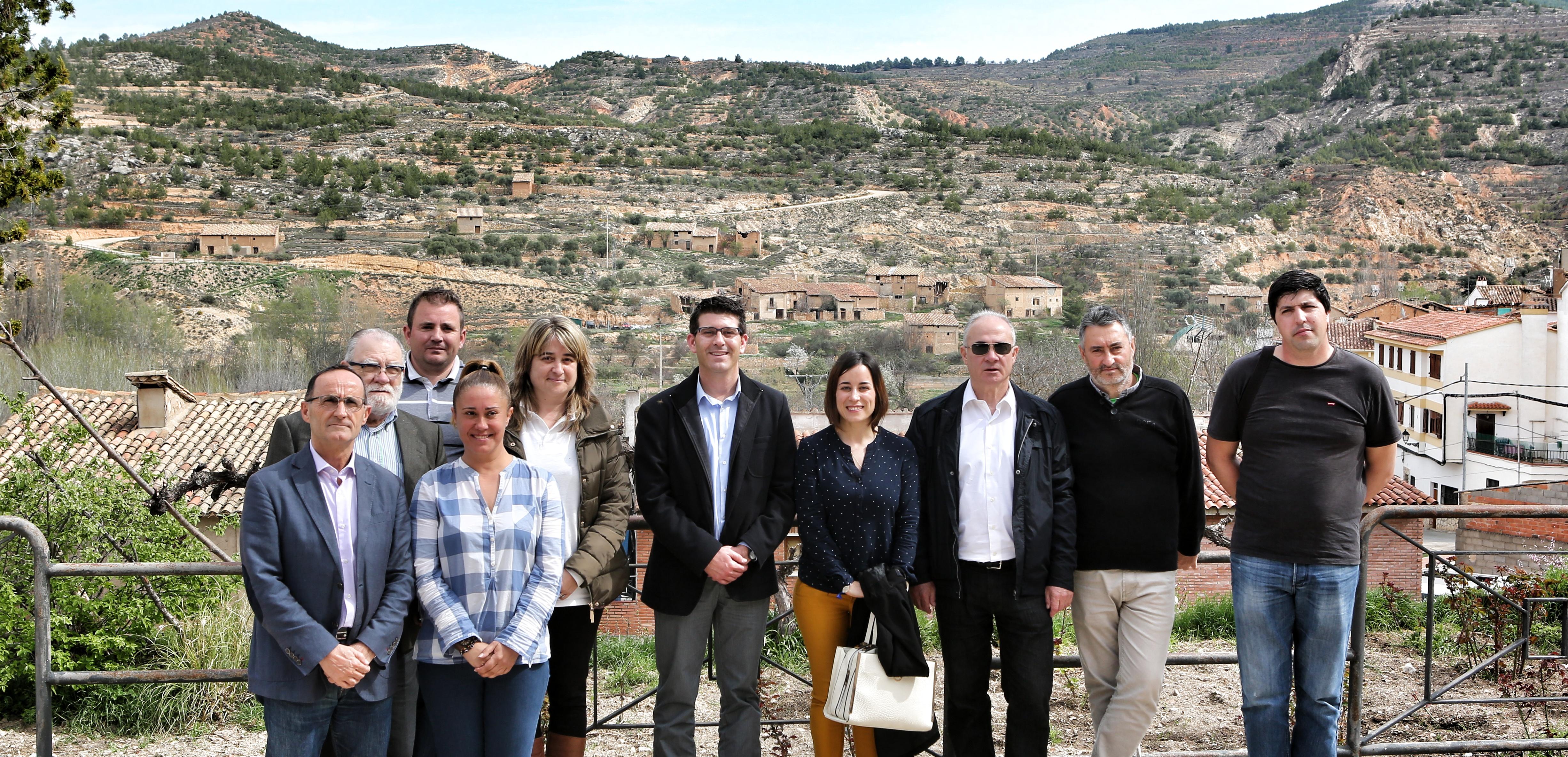 El presidente Jorge Rodríguez con alcaldes y alcaldesas del Rincón de Ademuz.