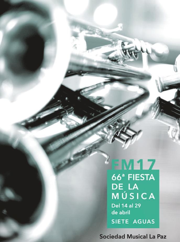 Cartel del programa de actos programado por la SM «La Paz».
