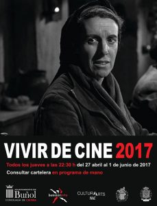 Cartel del ciclo Vivir de Cine para 2017.