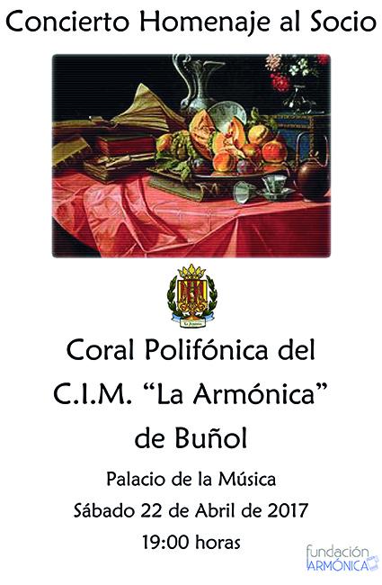 La coral polifónica del CIM La Armónica ofrecerá este sábado un concierto gratuito para los socios.
