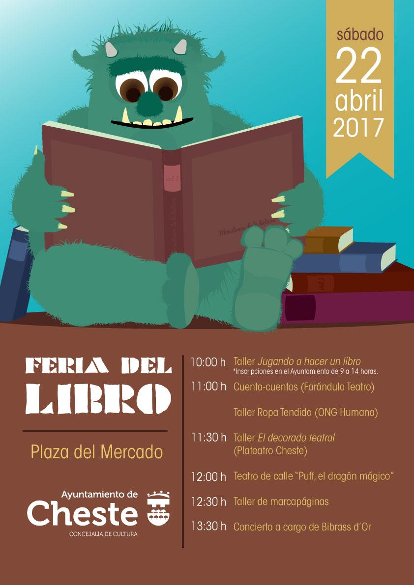 Cartel anunciador de la Feria del Libro de Cheste.
