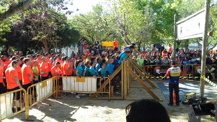 Salida del Desafío Guerrero desarrollado en Yátova.