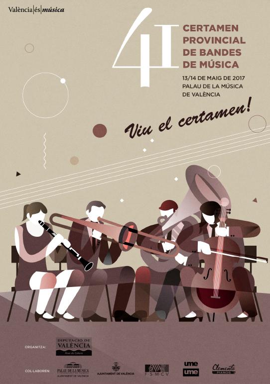 Cartel del 41 Certamen Provincial de Bandas.