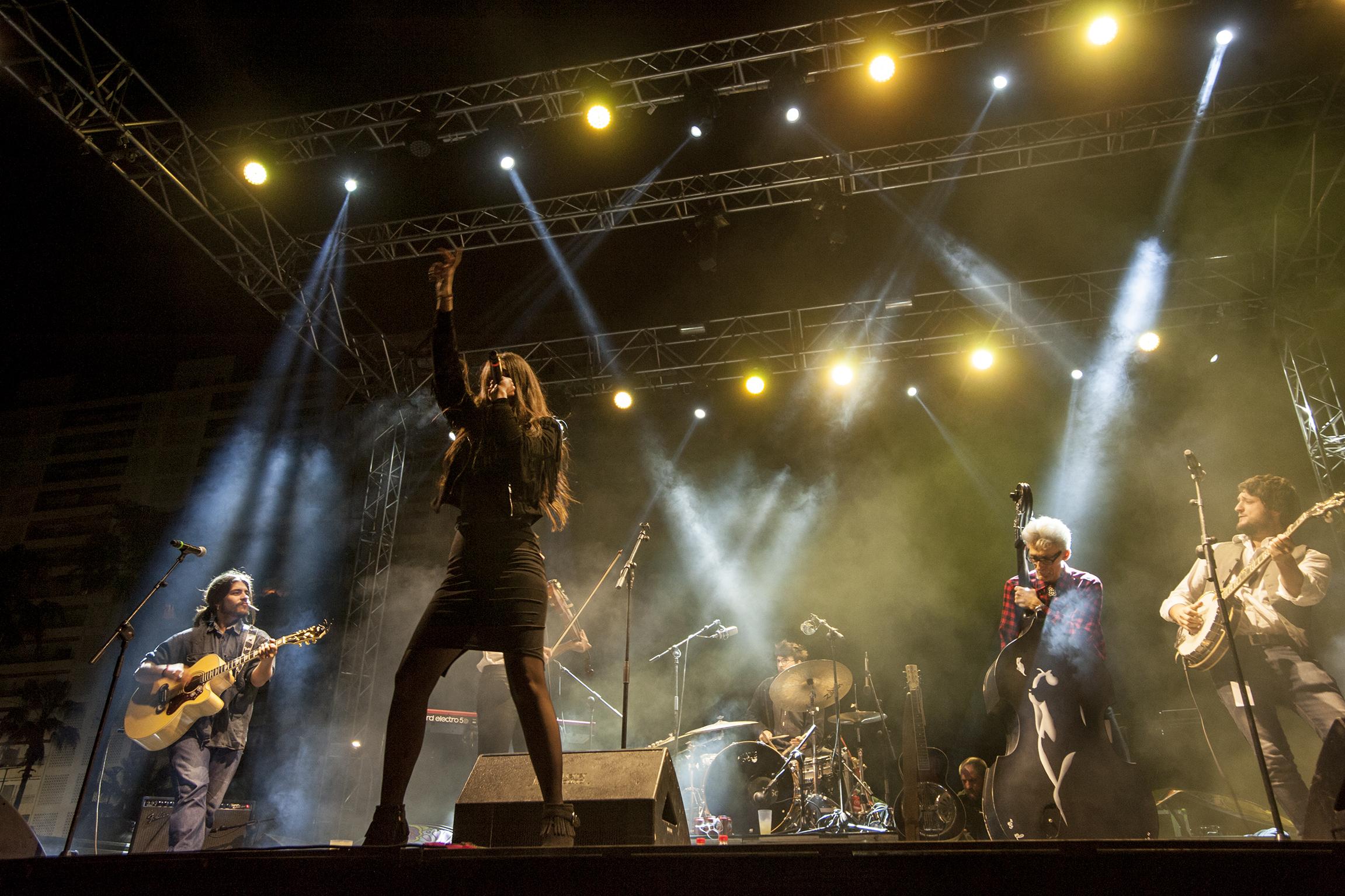 Badlands en el concierto de presentación en Cullera del Sona la Dipu 2017.