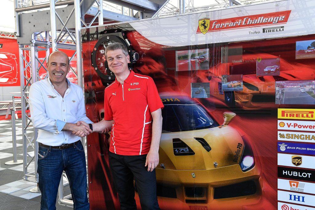 Gonzalo Gobert con Antonello Coletta en el Circuito de Cheste.