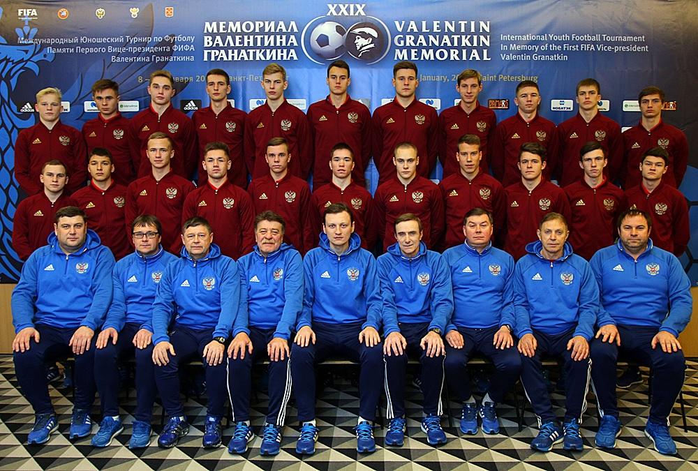 Integrantes de la Selección Nacional de Rusia.
